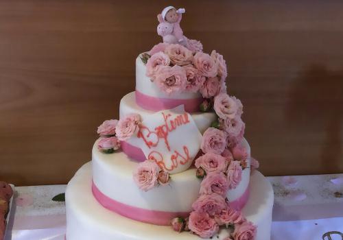 gâteau baptême petite fille