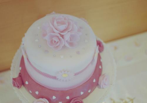 gâteau pâte à sucre baptême