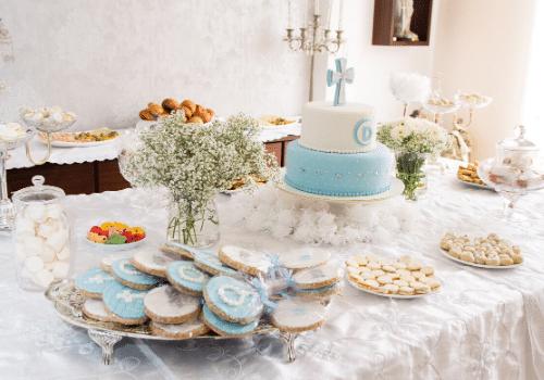 gâteau et buffet baptême