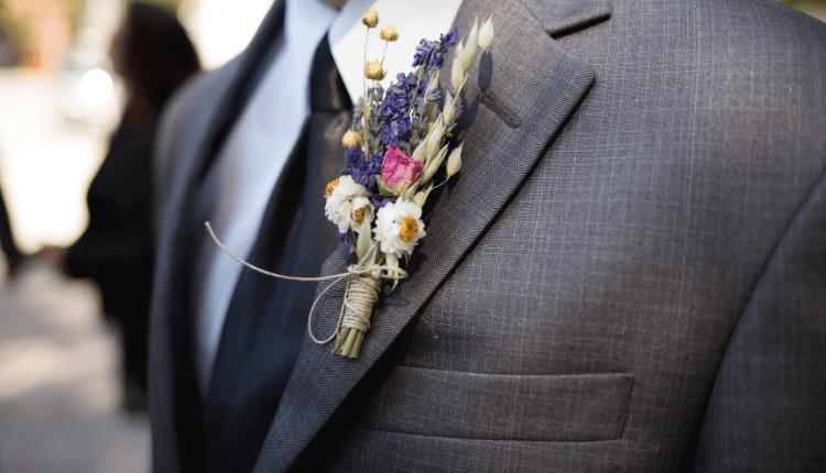 boutonnière champêtre mariage